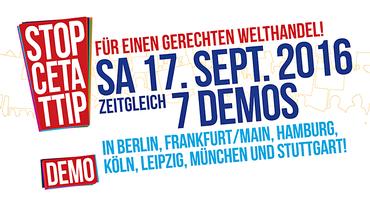 17. September 2016 TTIP-Demo