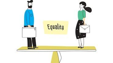 Equal Pay Gleiches Geld Entgeltgleichheit Illustration